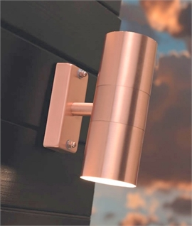 Brushed Copper Wall Light - Up & Down