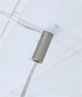 Brushed Nickel Offset Pendant Mounting Accessory