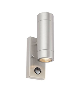 Standalone Sensor Operated Stainless Steel Up & Down Wall Light
