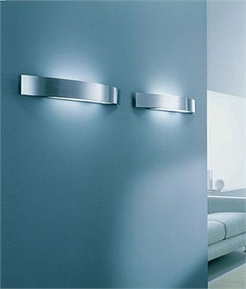 Modern Wall Light Brushed Steel - CFL