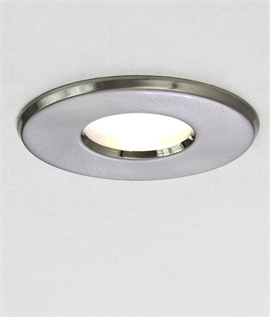 Mains GU10 Downlight IP65 - White or Brushed Nickel