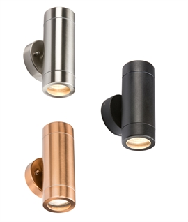 Budget Friendly Exterior Up & Down Wall Light in 3 Finishes