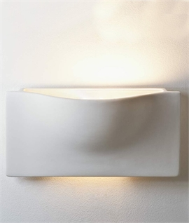 Ceramic Pocket Wall Light - Up & Down Light Distribution