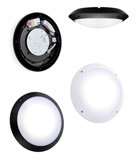 LED IP65 Bulkhead Lights with Built In Microwave Sensor - 12w 6000 Lumen