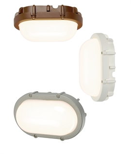 LED Oval Bulkhead Light - 8w LED Low Level Wall Light