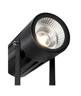 Bracket-Mounted LED Spotlight with Earth Spike - Matt Black