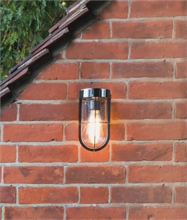 Modern exterior wall mounted lanterns lighting styles cabin clear glass wall light ip44 rated aloadofball Image collections