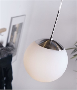 Opal Glass Bauhaus Ball Pendant - Four Sizes