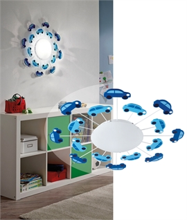 Junior Petrol Head Car Themed Light for Wall or Ceiling