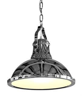 Industrial Chrome Cargo Pendant D:380mm