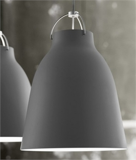Caravaggio Dark Matt Grey Lacquer Pendants