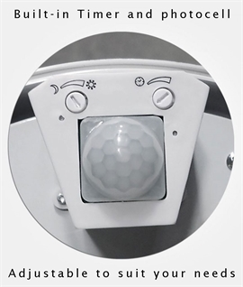 28W 2D Drum Light with PIR Movement Detector