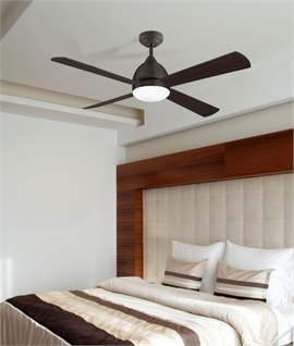 Large 4 Blade Ceiling Fan with Light Dia 1066mm