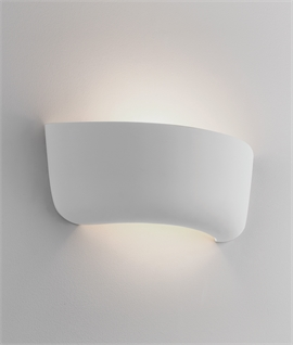 Ceramic Plaster Curve Wall Washing Light