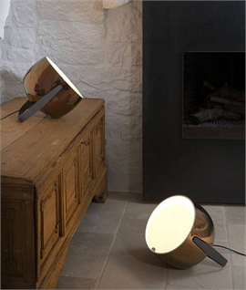 Ceramic Uplighter with Stand - White or Bronze
