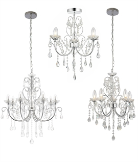 Crystal & Chrome Chandeliers for Bathrooms