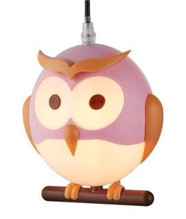 Childrens Owl Swing Pendant
