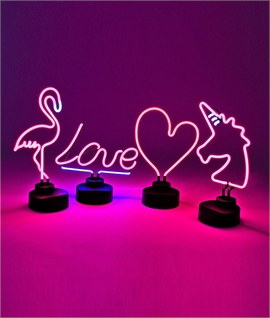 Neon Character Table Lamp - 4 Designs