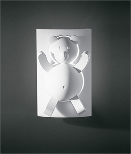 Nursery Plaster Wall Light - Bear
