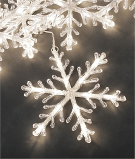 Outdoor LED Snowflake Icicle Set