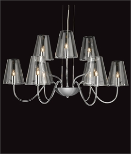 Modern Chandeliers With Glass Shades Lighting Styles
