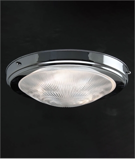 Enclosed Flush Fitting Art Deco Style Ceiling Light