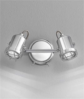Double Chrome Industrial Style Spot Light