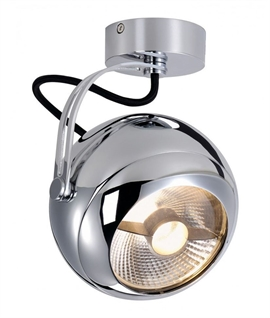 Retro Adjustable Chrome Spotlight
