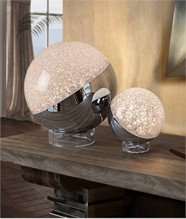 Glitter Ball LED Table Lamp - Two Sizes