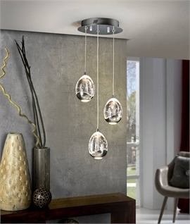 LED Light Pendants with 1.5m Drop