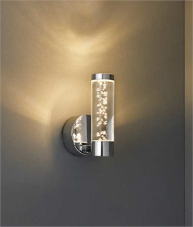 Chrome LED Wall Light with Bubble Effect