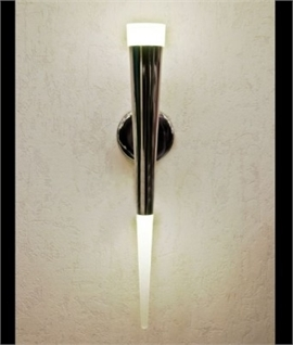 Modern LED Fluted Wall Light - Black or Chrome