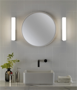 Chrome & Opal Diffuser Wall Light for Bathrooms - IP44