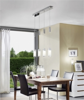 Polished Chrome Flush Mounted Rise & Fall Pendant