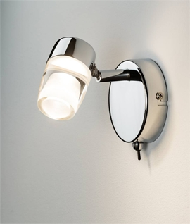 Chrome LED Single Spot with Adjustable Lamp