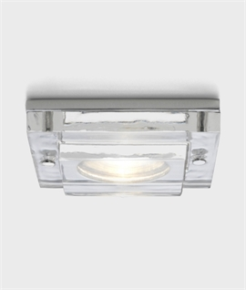 Square Glass Stepped Design IP65 Downlight
