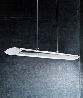 Linear Suspended LED Pendant Light - Polished Chrome