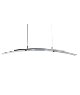 LED Wide Curved Glass Dining Pendant