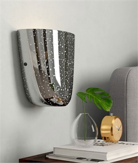 Speckled Mirror Glass Wall Light