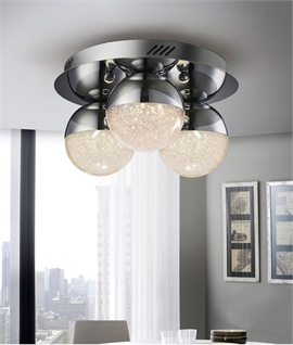 LED Glitter Ball Flush Mounted Light - 3 Options