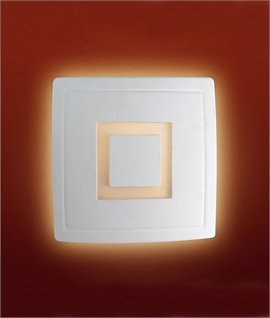 Chubby Square Ceramic Wall Light