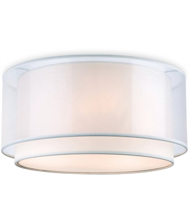 Circular Flush Mounted Double-Shaded Light