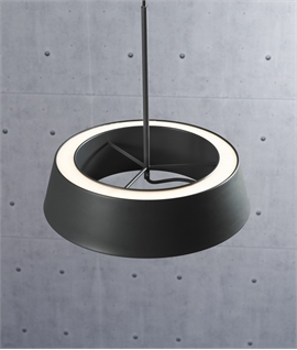 Grey Simply Styled LED Round Pendant