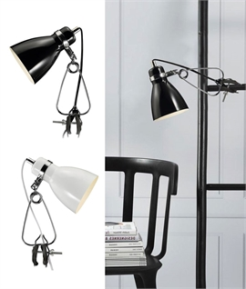 Clamp Mounted Task Lamp with Trailing Lead