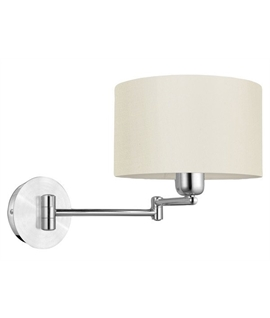 Classic Swing Arm Shaded Bedside Light