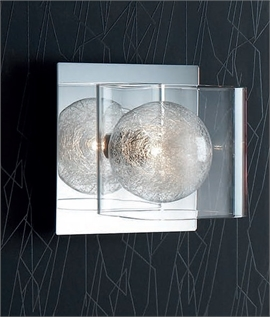 Clear Shade & Glass Filament Wall Light