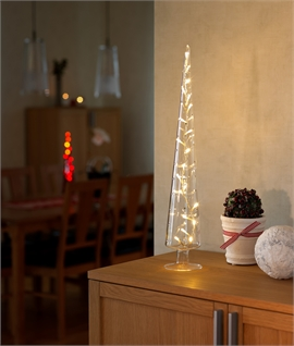Glass Cone Christmas Tree with LEDs