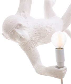 Monkey Swing Light - White for Indoor Use