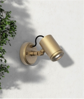 Brass Versatile LED Exterior Spot - light designed for harsh environments