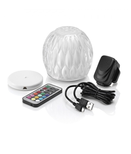 Colour Changing Domed Table Lamp - Wireless Charging